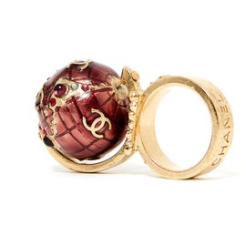 Chanel-RING T54 COLLECTION MONDE SS2004-Doré