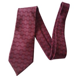 Hermès-Ties-Dark red