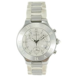 Cartier-Cartier doit 21 Chronoscaph 2424 Chronographe Quartz Date-Sable
