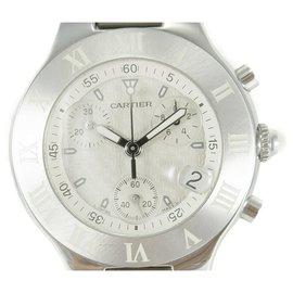Cartier-Cartier must 21 Chronoscaph 2424 Chronograph Quartz Date-Sand