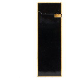 Chanel-LIGHTER BLACK ENAMEL IN BOX-Black,Golden