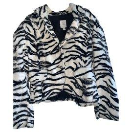 Autre Marque-Girl Coats outerwear-Zebra print