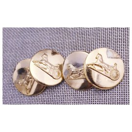 Céline-CELINE vintage cufflinks-Golden