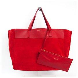Yves Saint Laurent-YSL Red Revsersible Shopper-Red