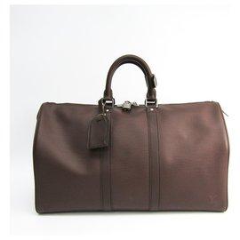 Louis Vuitton-Louis Vuitton Brown Epi Keepall 45-Marron