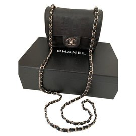 Chanel-Mini lizard-Black