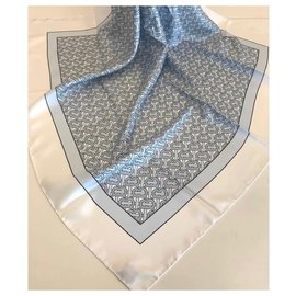 Burberry-SILK FOULARD BURBERRY-Light blue