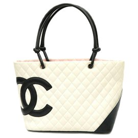 Chanel-Chanel Cambon Tote Bag-White