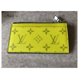 Louis Vuitton-Louis Vuitton card and coin wallet new-Yellow