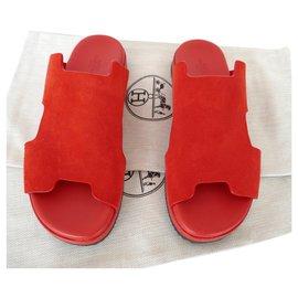 Hermès-sandals-Red
