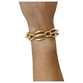 inconnue-Bracelet maille fantaisie en or jaune.-Autre
