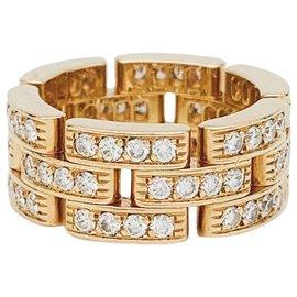 """Cartier-Bague Cartier """"Maillon Panthère"""" or jaune, diamants.-Autre"""