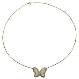 """Van Cleef & Arpels-Collier Van Cleef & Arpels, """"Papillon"""", or jaune, corail blanc et diamant.-Autre"""