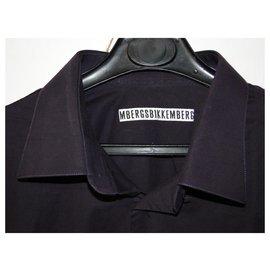 Autre Marque-Chemise 43 coton habillée BIKKEMBERGS-Violet