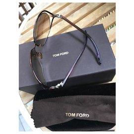 Tom Ford-Des lunettes de soleil-Marron