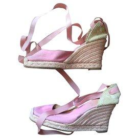 Christian Louboutin-pink louboutins mules-Pink
