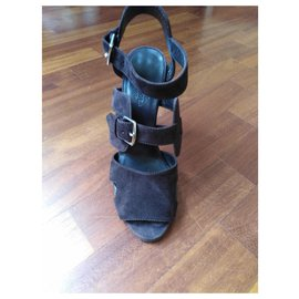 Hermès-H sandals-Chocolate