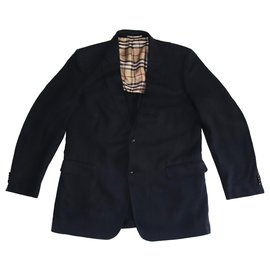 Burberry-Blazers Jackets-Dark blue