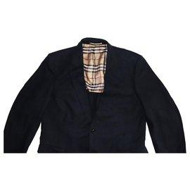 Burberry-Vestes Blazers-Bleu foncé