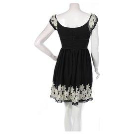 Anna Sui-Dresses-Black,Beige