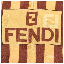 Fendi-Fendi Gold Printed Silk Scarf-Multiple colors,Golden