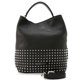 Burberry-Burberry Black Susanna Studded Satchel-Black