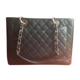 Chanel-Chanel GST (grand shopping tote)-Black