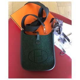 Hermès-Brand new Hermes mini Evelyne-Dark green