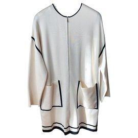 Hermès-Manteau zippe Hermes-Blanc
