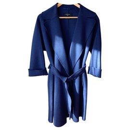 Max Mara-Manteau classique  Maxmara-Bleu