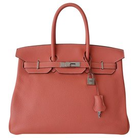 Hermès-SAC HERMES BIRKIN FLAMINGO-Rose,Orange,Corail