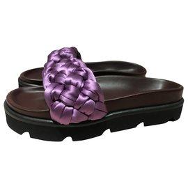 Mulberry-Braid detail slides-Purple