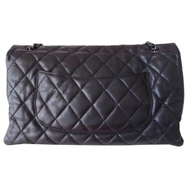 Chanel-CHANEL CLASSIC BAG MAXI BLACK-Black