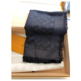 Louis Vuitton-shawl-Dark grey