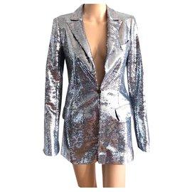 Chanel-Miami Cruise Chanel Sequin Blazer Jacket 2009-Silvery