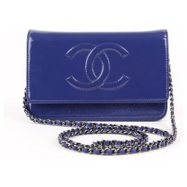 Chanel-wallet on chain-Bleu