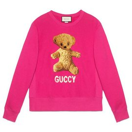 Gucci-Gucci Teddy Bear Sweatshirt-Pink