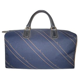 Pierre Cardin-PIERRE CARDIN vintage travel bag-Navy blue