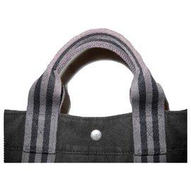 Hermès-HERMES vintage bag Toto-Dark grey