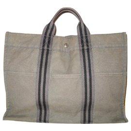 Hermès-HERMES vintage bag Toto-Grey