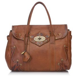 Mulberry-Mulberry Brown Leather Bayswater-Brown