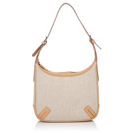 Burberry-Burberry Brown Canvas Shoulder Bag-Brown,Beige,Light brown