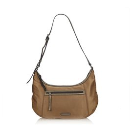 Burberry-Burberry Brown Nylon Shoulder Bag-Brown