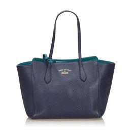 Gucci-cabas Swing Bleu Gucci-Bleu