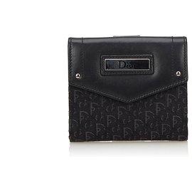 Dior-Dior Black Oblique Small Wallet-Black