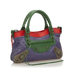 Balenciaga-Balenciaga Purple Motocross Classic First Bag-Multiple colors,Purple