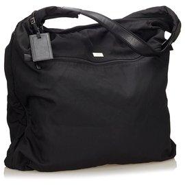 Gucci-Gucci Sac de vêtement en nylon noir-Noir