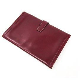 Hermès-Hermes Box Rouge Veau Jige PM-Rouge