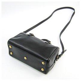 Yves Saint Laurent-YSL Black Leather Classic Baby Duffle-Black