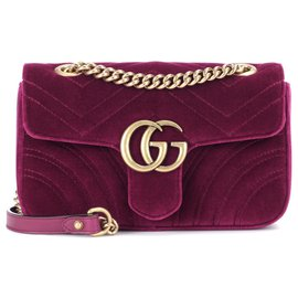 Gucci-gucci mini crossbody marmont velvet new 100%-Violet